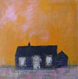 Prospect Cottage Glow by Anna Wilson-Patterson, Painting, Oil on panel