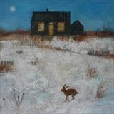 Prospect Cottage Hare by Anna Wilson-Patterson, Painting, Oil on Wood