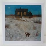 Prospect Cottage Hare Cards by Anna Wilson-Patterson, Painting, Ink on Paper