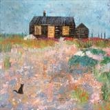 Prospect Cottage Kitten by Anna Wilson-Patterson, Painting, Oil on Wood