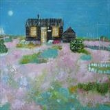 Prospect Cottage Moonlight by Anna Wilson-Patterson, Painting, Oil on Wood
