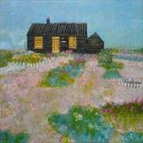 Prospect Cottage Poppies by Anna Wilson-Patterson, Painting, Oil on Wood