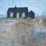 Prospect Cottage September by Anna Wilson-Patterson, Painting, Oil on Wood