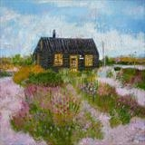 Prospect Cottage Sunshine by Anna Wilson-Patterson, Painting, Oil on Wood