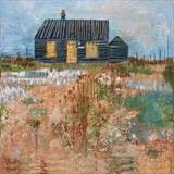 Prospect Cottage Teasels by Anna Wilson-Patterson, Painting, Oil on Wood
