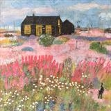 Prospect Cottage Valerian by Anna Wilson-Patterson, Painting, Oil on Wood