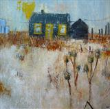 Prospect Cottage Winter by Anna Wilson-Patterson, Painting, Oil on Wood