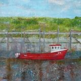 RX8 At Rye Harbour by Anna Wilson-Patterson, Painting, Oil on Wood