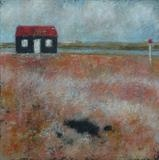 Red Hut Rye Harbour by Anna Wilson-Patterson, Painting, Oil on Board