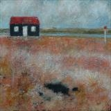 Red Hut, Rye Harbour Card by Anna Wilson-Patterson, Painting, Ink on Paper