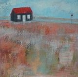Red Hut Summer by Anna Wilson-Patterson, Painting, Oil on canvas
