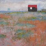 Red Hut With Sea Kale by Anna Wilson-Patterson, Painting, Oil on panel