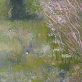 Resident Rabbit by Anna Wilson-Patterson, Painting, Oil on panel