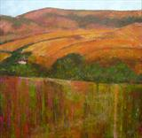 River High and Over Alfriston by Anna Wilson-Patterson, Painting, Oil on canvas