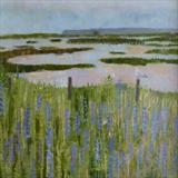 Rye Harbour Blues by Anna Wilson-Patterson, Painting, Oil on Wood