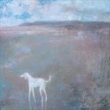 Saluki at Fairlight by Anna Wilson-Patterson, Painting, Oil on Wood