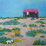 Seaside Snuffling by Anna Wilson-Patterson, Painting, Oil on Wood