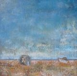 Shoreline Dungeness by Anna Wilson-Patterson, Painting, Oil on Board