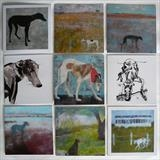 Sighthound Greeting Cards by Anna Wilson-Patterson, Painting, Ink on Paper