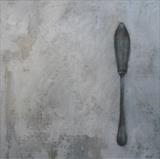 Silver Knife by Anna Wilson-Patterson, Painting, Oil on panel