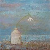 Snowdrop By The Sea by Anna Wilson-Patterson, Painting, Oil on panel