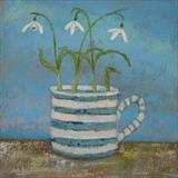 Snowdrop Trio by Anna Wilson-Patterson, Painting, Oil on Board