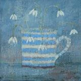 Snowdrops At Dusk by Anna Wilson-Patterson, Painting, Oil on panel