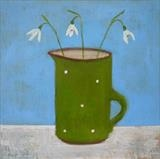 Snowdrops In Kitchen by Anna Wilson-Patterson, Painting, Oil on Board
