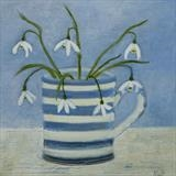 Snowdrops On The Windowsill by Anna Wilson-Patterson, Painting, Oil on Wood