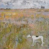 Spotty Greyhound At Nature Reserve by Anna Wilson-Patterson, Painting, Oil on Wood