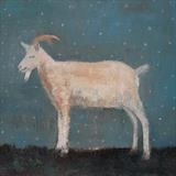 Starry Starry Goat, Rye Harbour by Anna Wilson-Patterson, Painting, Oil on panel