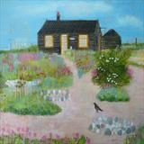 Summer Cottage by Anna Wilson-Patterson, Painting, Oil on Wood