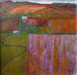 Sunset High and Over Alfriston by Anna Wilson-Patterson, Painting, Oil on canvas