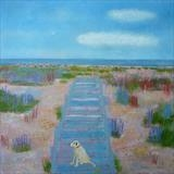 The Boardwalk by Anna Wilson-Patterson, Painting, Oil on Wood