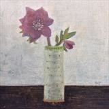 The First Hellebore by Anna Wilson-Patterson, Painting, Oil on panel