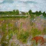 Tiptoe Through The Teasels by Anna Wilson-Patterson, Painting, Oil on Wood