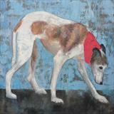 Whippet Walk by Anna Wilson-Patterson, Painting, Oil on canvas