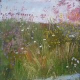 Wild Flowers Rye Harbour by Anna Wilson-Patterson, Painting, Oil on Wood