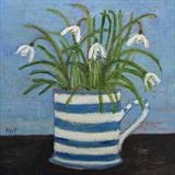 Winchelsea Allotment Snowdrops by Anna Wilson-Patterson, Painting, Oil on panel