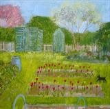Winchelsea Allotment Tulips by Anna Wilson-Patterson, Painting, Oil on Wood