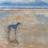 Winchelsea Beach Blues by Anna Wilson-Patterson, Painting, Oil on Wood