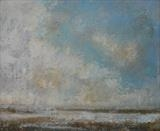 Winchelsea Beach Clouds by Anna Wilson-Patterson, Painting, Oil on panel
