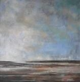 Winchelsea Beach Low Tide by Anna Wilson-Patterson, Painting, Oil on canvas