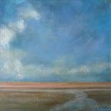 Winchelsea Beach Sky by Anna Wilson-Patterson, Painting, Oil on canvas