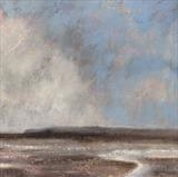 Winchelsea Beach Storm by Anna Wilson-Patterson, Painting, Oil on Wood