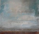 Winchelsea Sky October by Anna Wilson-Patterson, Painting, Oil on Wood