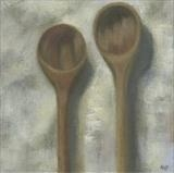 Wooden Spoons by Anna Wilson-Patterson, Painting, Oil on Board